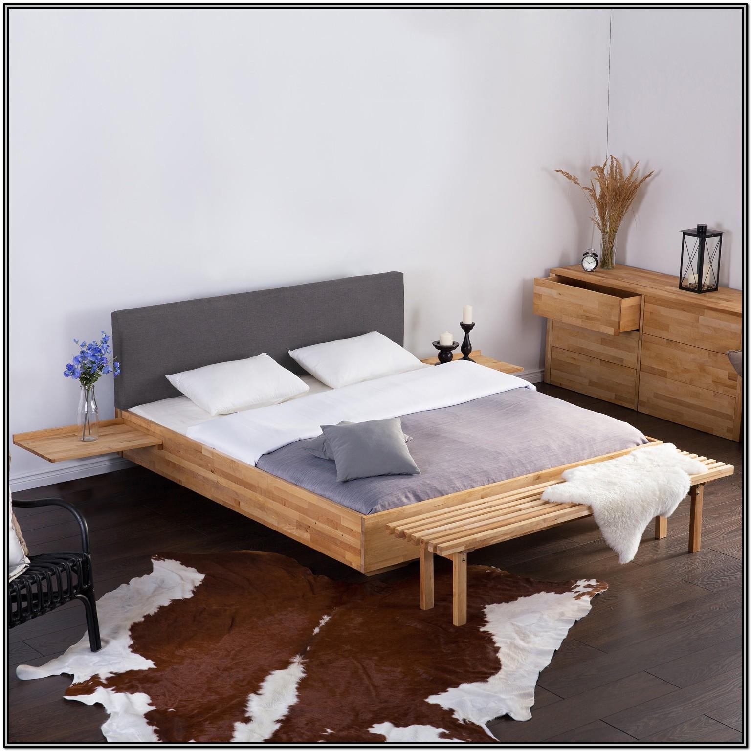 Grey Upholstered Super King Bed