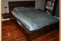 Ikea Platform Bed With Attached Nightstands