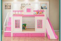 Kids'bunk Bed With Slide And Stairs