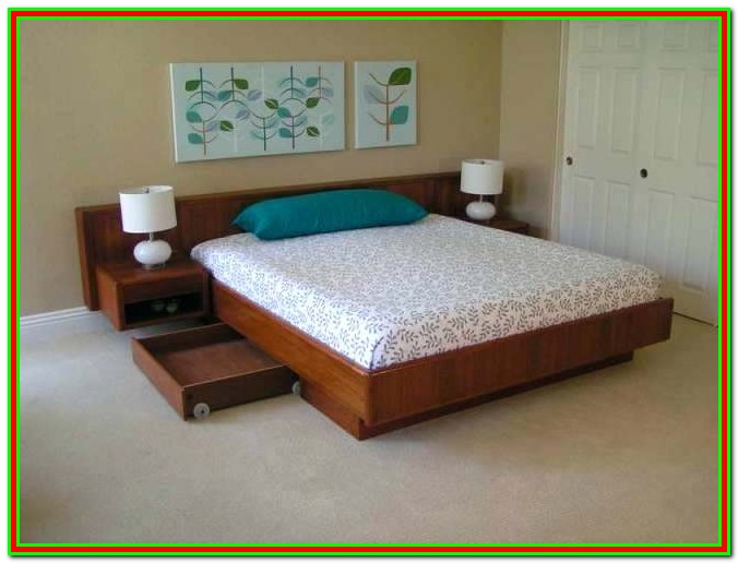 King Bed With Nightstands Attached