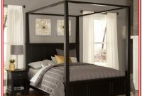 King Size Black Canopy Bed Frame