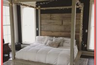 King Size Wooden Canopy Bed Frame