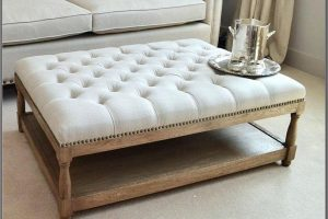 Leather Ottoman Coffee Table Rectangle