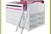 Low Loft Bed With Storage Full Size