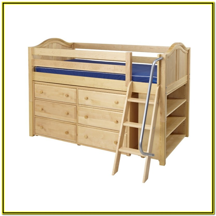 Low Loft Bed With Storage Underneath