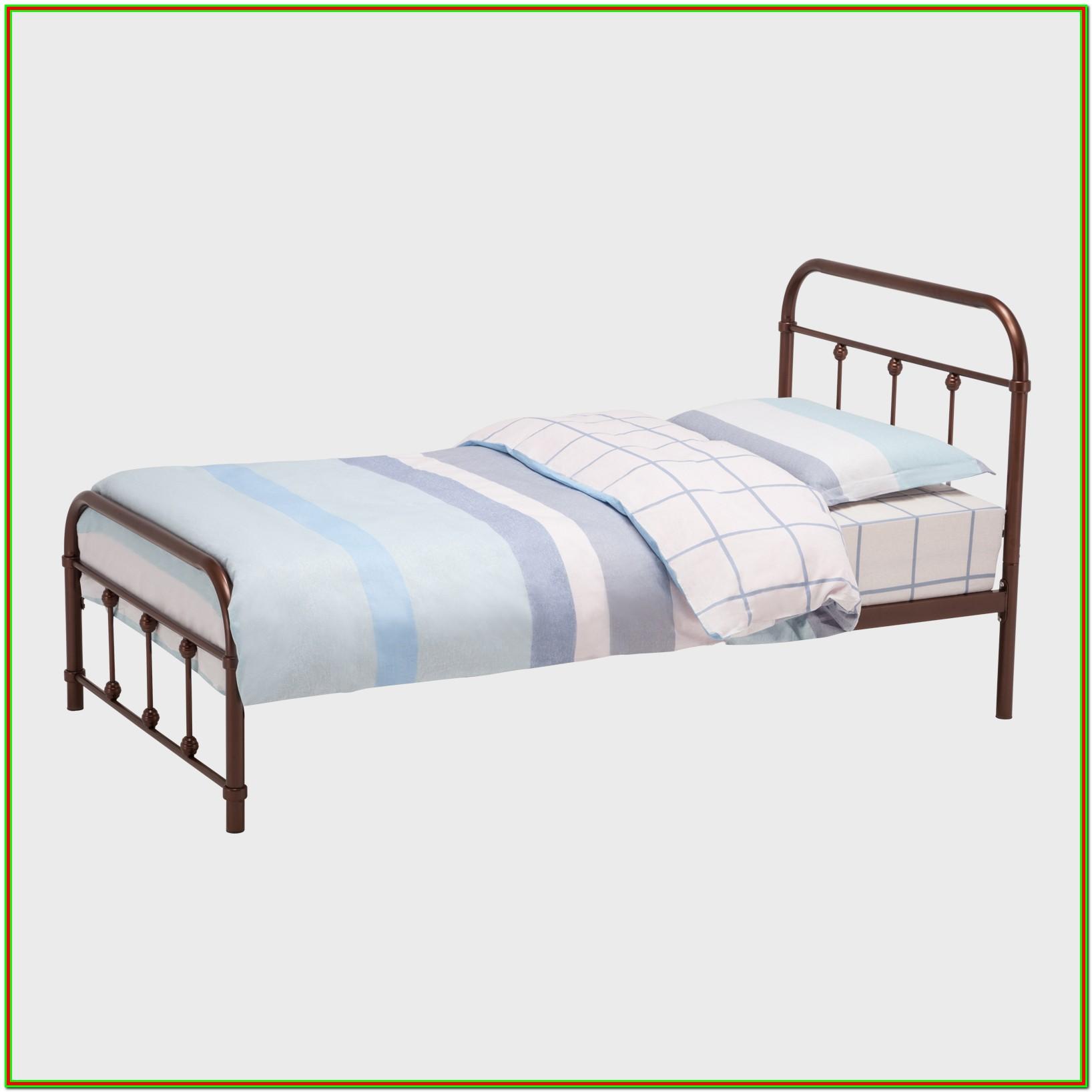 Metal Platform Bed Frame With Headboard