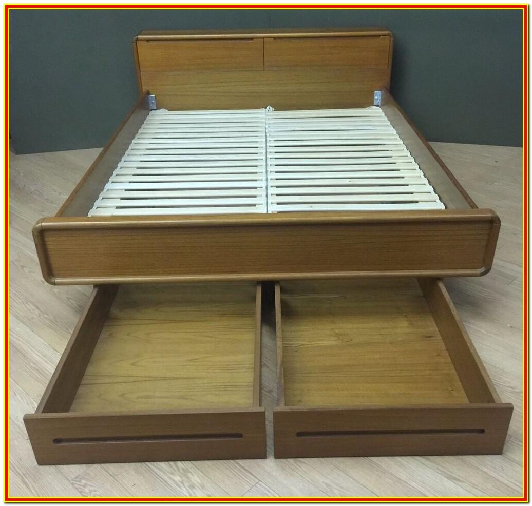 Mid Century Platform Bed With Storage