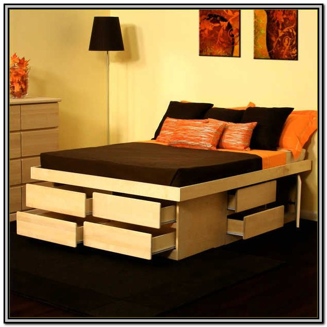 Plans For King Size Bed Frame With Drawers