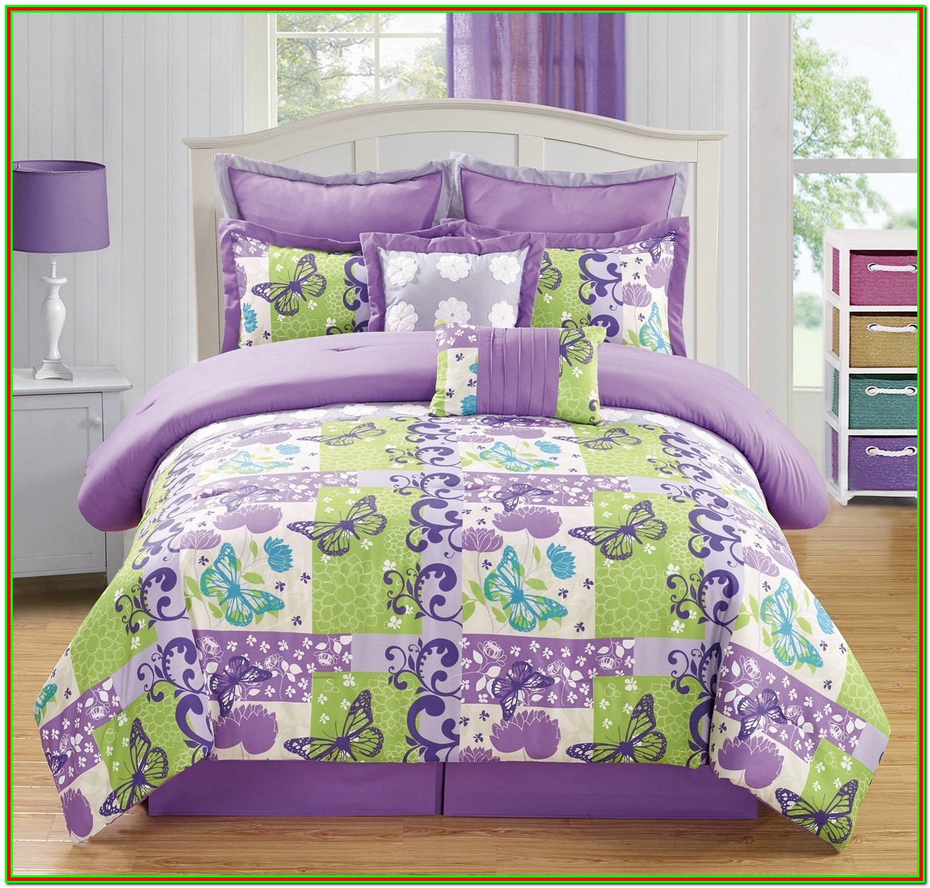 Purple And Green Bedding King