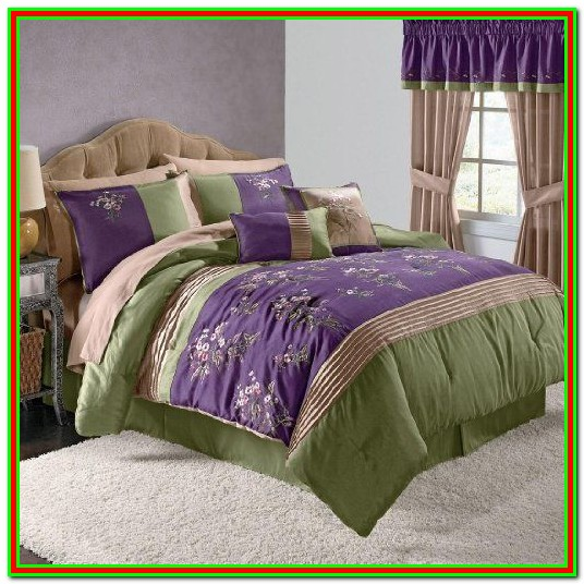 Purple And Green Bedding Sets