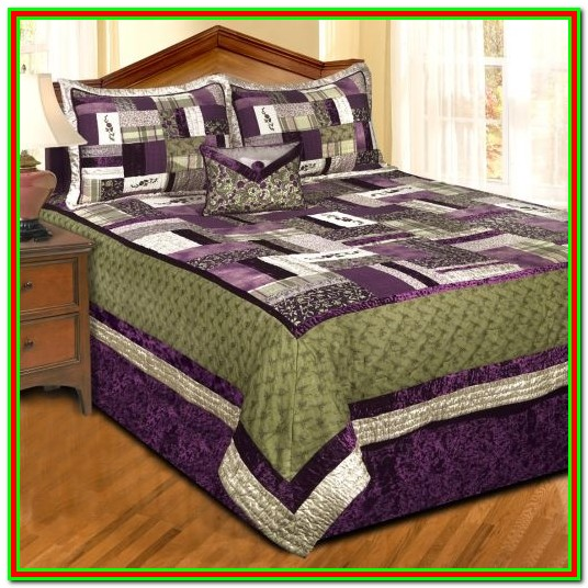 Purple And Sage Green Bedding