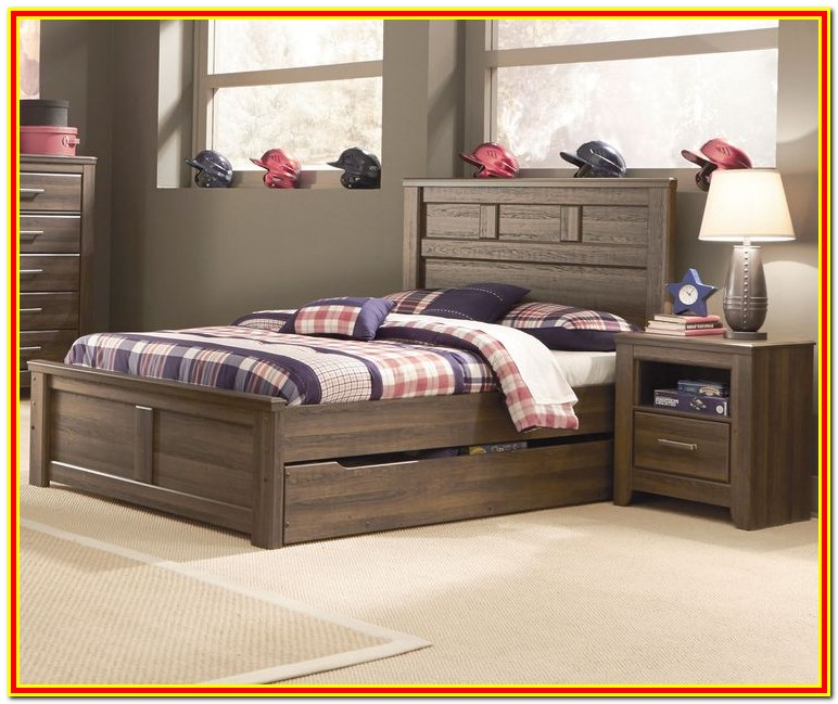 Queen Size Bed With Twin Trundle