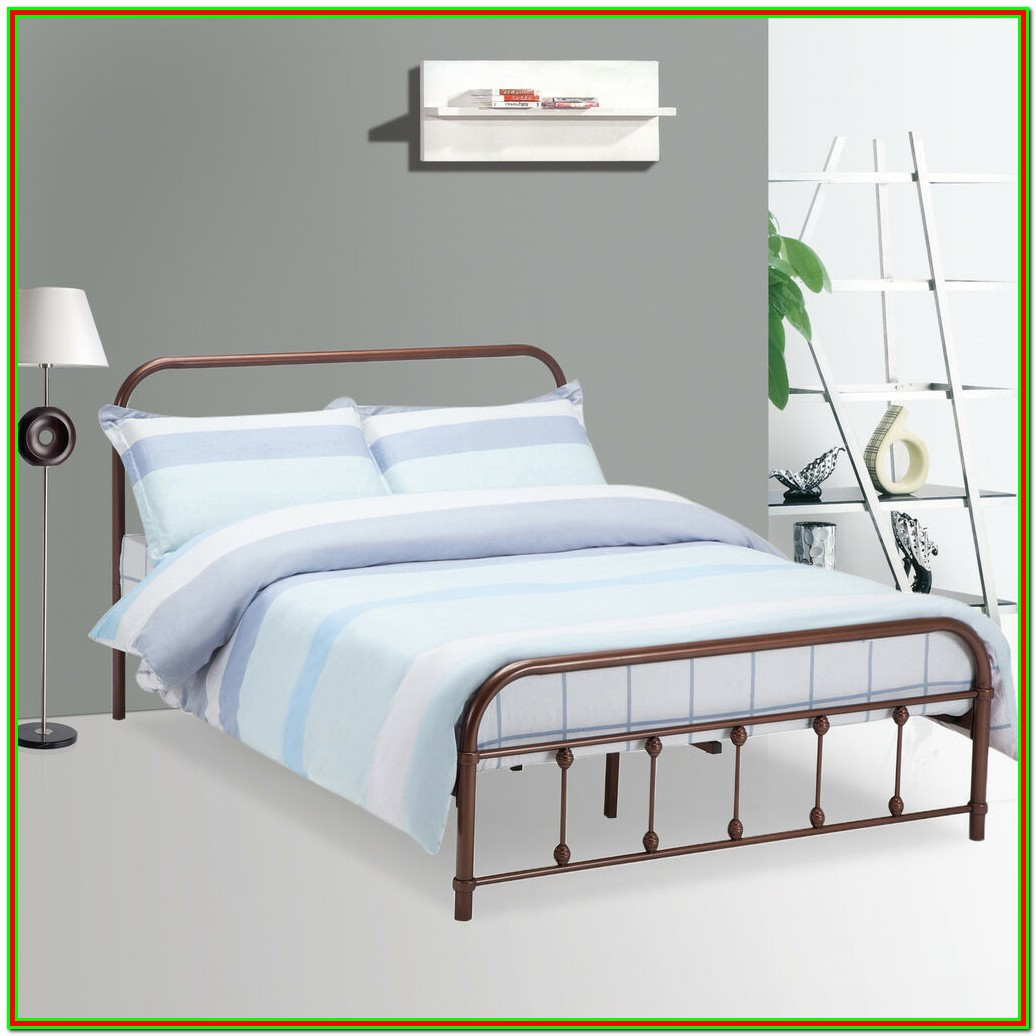 Queen Size Metal Bed Frame For Headboard And Footboard