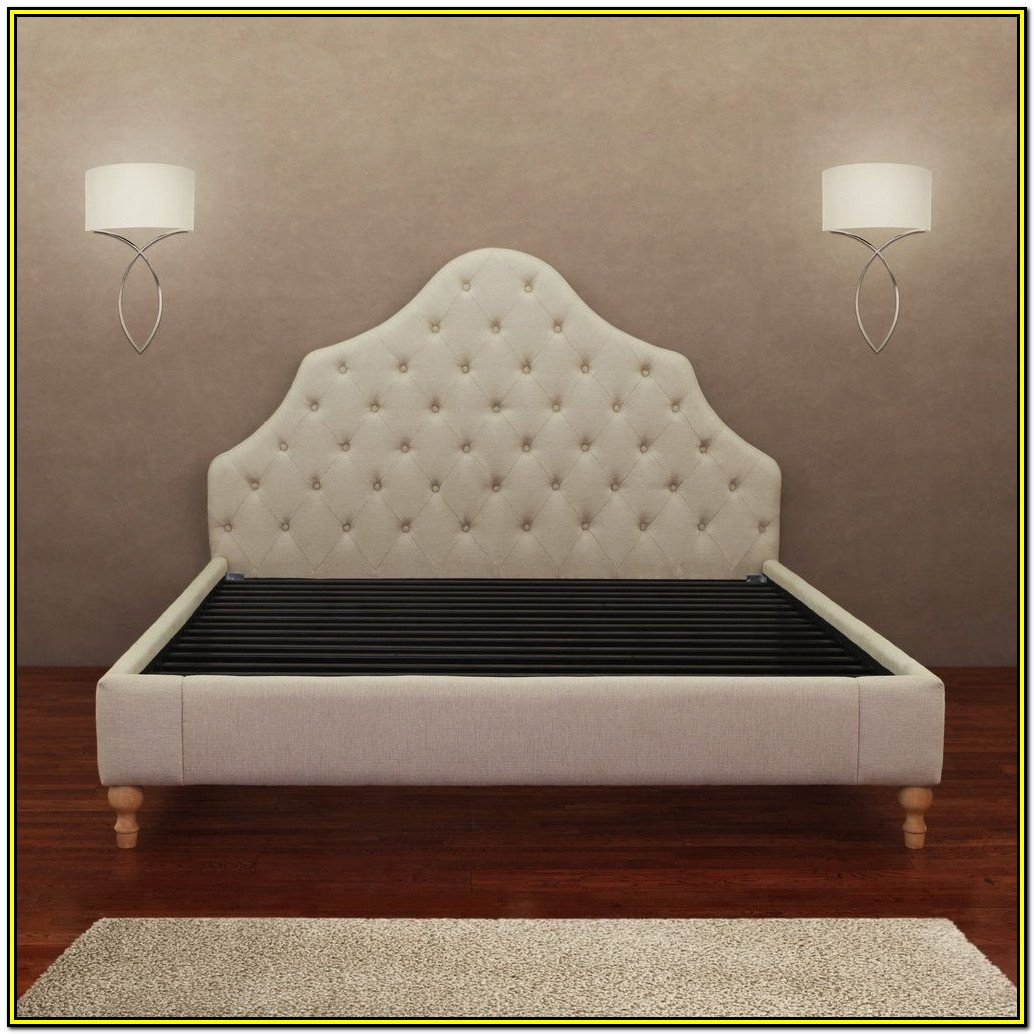 Tufted Headboard Queen Bed Frame