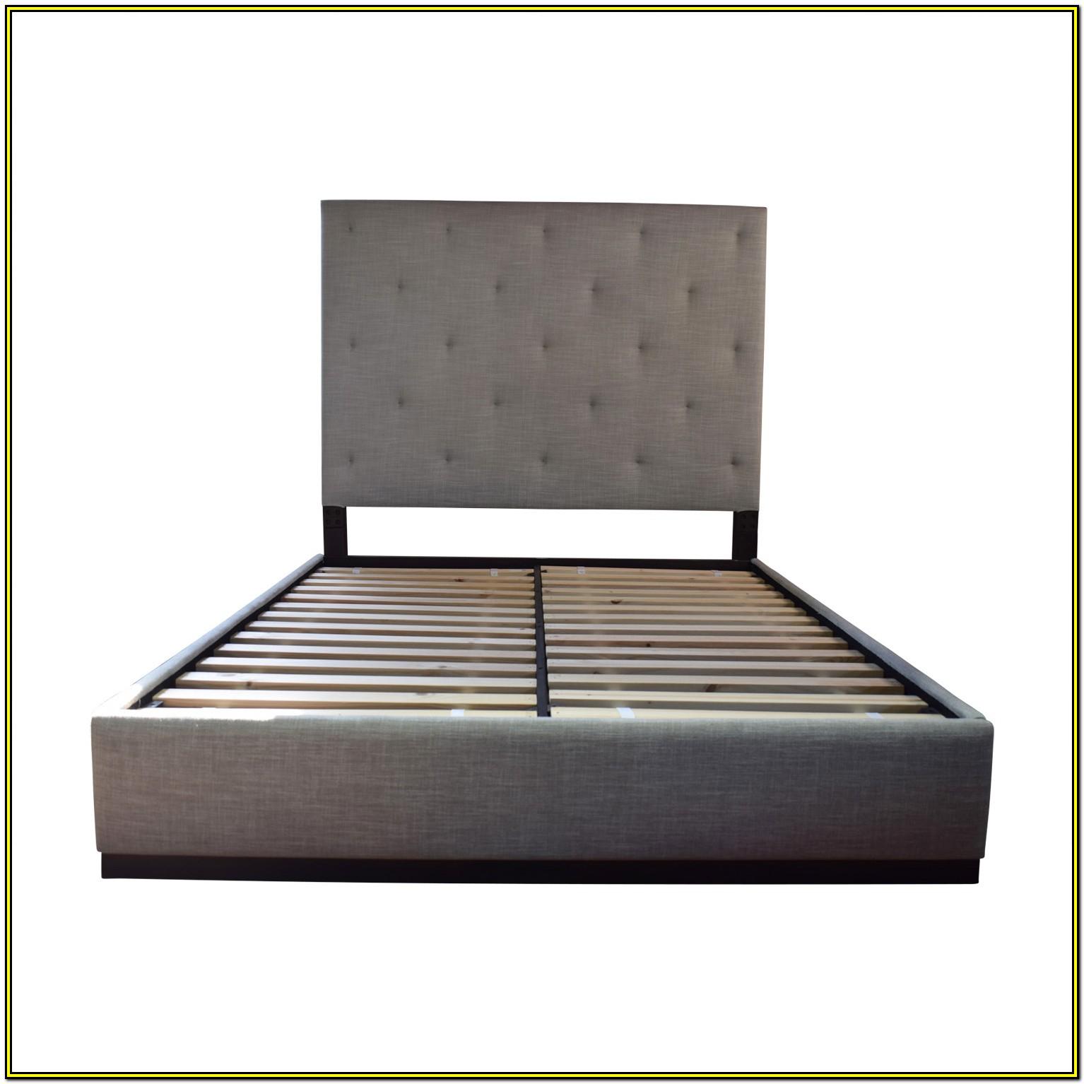 Tufted Platform Bed Frame Queen