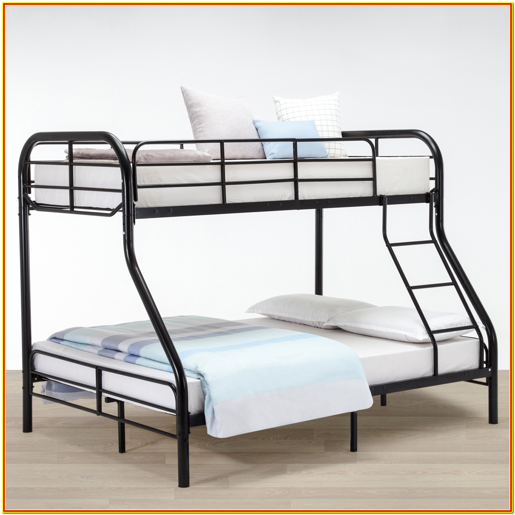 Twin Over Full Bunk Bed With Side Ladder