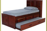 Twin Platform Bed With Shelves