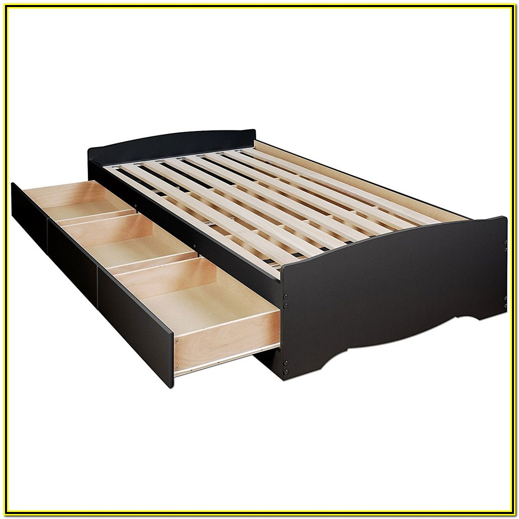 Twin Platform Bed With Storage Plans