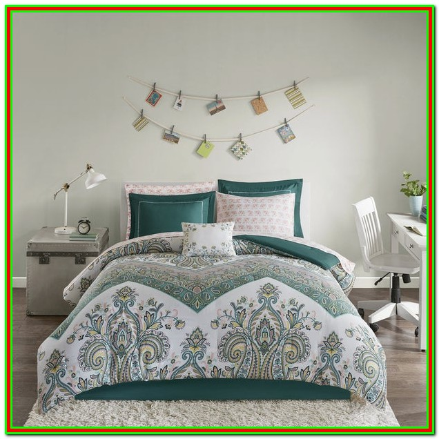 Twin Size Bed In A Bag Teal