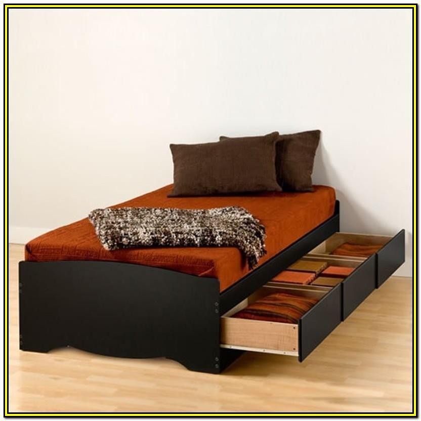 Twin Xl Platform Bed Frame With Storage
