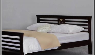 Wood Bed Frame With Headboard Queen