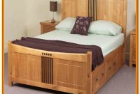 Wooden King Size Bed Frame With Storage